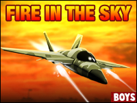 Fire In The Sky Game - The F-22 Fireball is on a dangerous mission across the barren lands of Syria. Destroy the enemies and save the day before it's too late. Be brave soldier, it's time to start the fire!