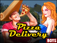 California Pizza Delivery Game - Be nice, deliver the slice!