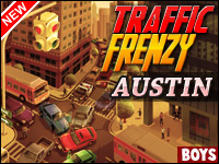 Traffic Frenzy: Austin Game - Car Games