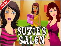 Salón de Suzie Game - Es el mejor salón de la ciudad y está a cargo. Obtener configurado y listo para hacer que sus clientes ves hermosa!