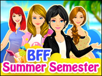 BFF: Semestre De Verano Game - Dress-Up Games