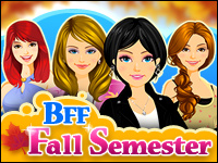 BFF: Fall Semester Game - Dress-Up Games